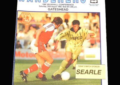 Wycombe v Gateshead 29.08.1993