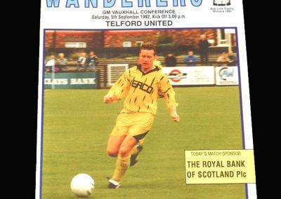 Wycombe v Telford 05.09.1992
