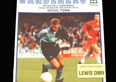 Wycombe v Yeovil 15.09.1992