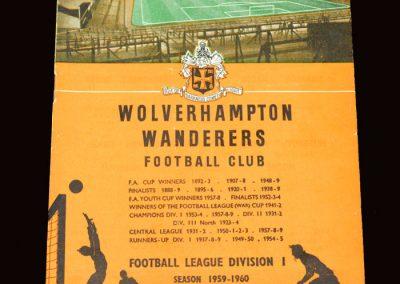 Wolves v West Ham 11.04.1960