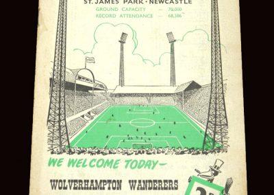 Wolves v Newcastle 16.04.1960