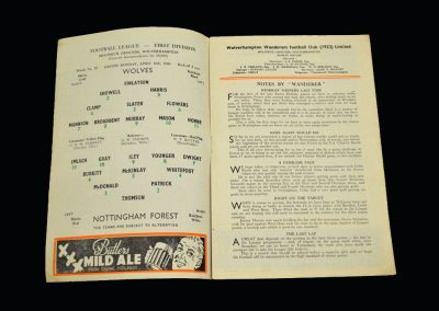 Wolves v Notts Forest 18.04.1960