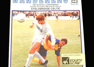 Wycombe v Stalybridge Celtic 03.10.1992