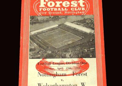 Wolves v Notts Forest 19.04.1960