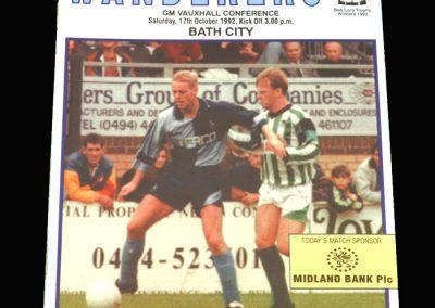 Wycombe v Bath 17.10.1992
