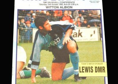 Wycombe v Witton 24.10.1992