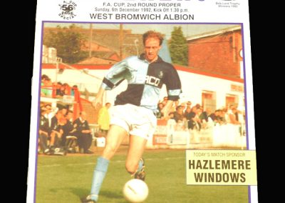 Wycombe v West Brom 06.12.1992 - FA Cup 2nd Round