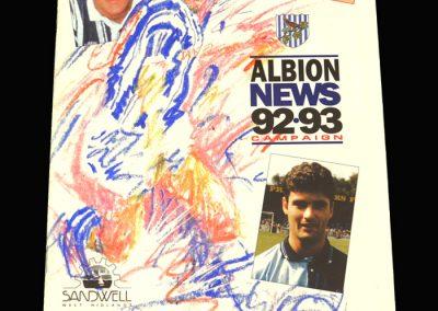 Wycombe v West Brom 15.12.1992