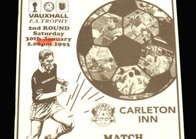 Wycombe v Morecambe 30.01.1993 - FA Trophy 2nd Round