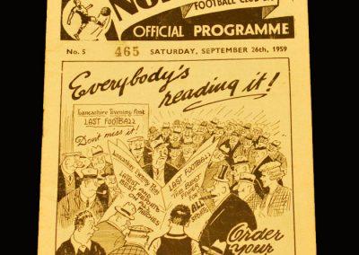 Man Utd v Preston 26.09.1959