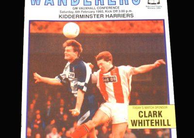 Wycombe v Kidderminster 06.02.1993