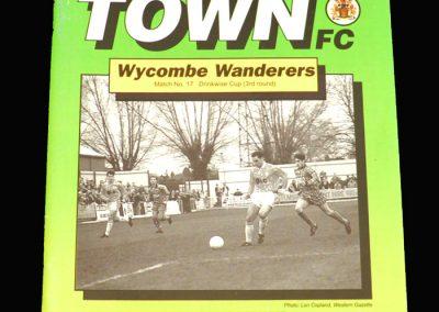 Wycombe v Yeovil 09.02.1993 - James C Thompson Shield 3rd Round