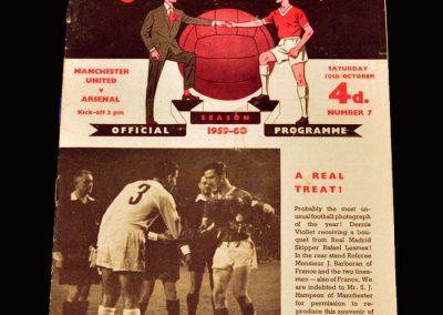 Man Utd v Arsenal 10.10.1959