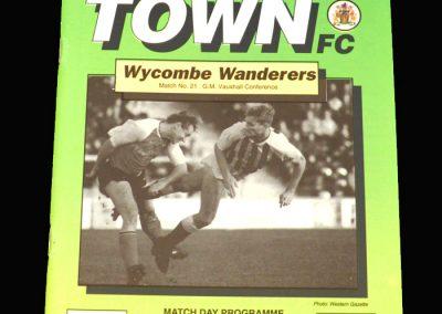 Wycombe v Yeovil 16.03.1993