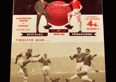 Man Utd v Fulham 07.11.1959