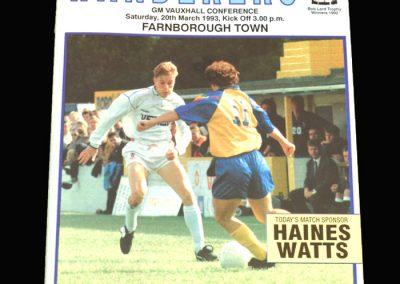 Wycombe v Farnborough 20.03.1993