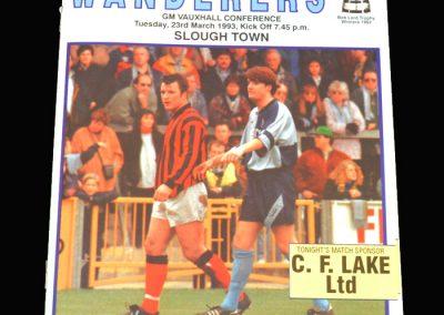 Wycombe v Slough 23.03.1993