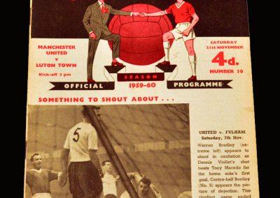 Man Utd v Luton 21.11.1959