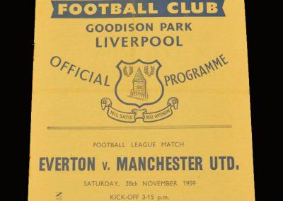 Man Utd v Everton 28.11.1959