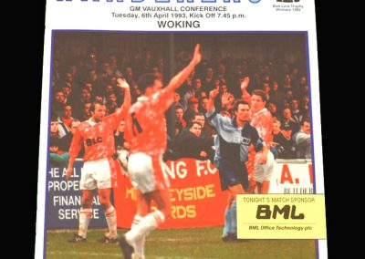 Wycombe v Woking 06.04.1993