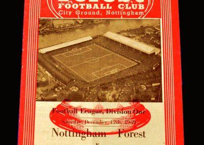 Man Utd v Notts Forest 12.12.1959