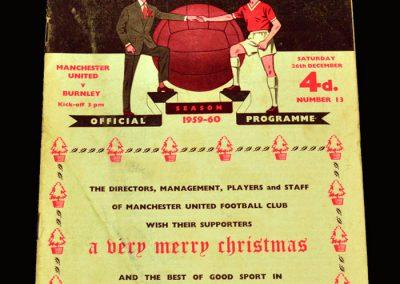Man Utd v Burnley 26.12.1959