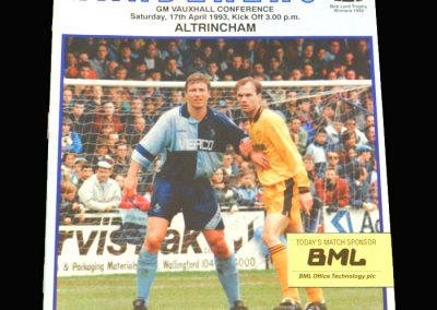 Wycombe v Altrincham 17.04.1993