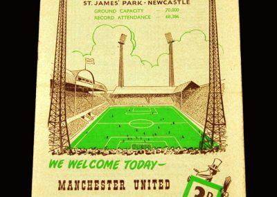 Man Utd v Newcastle 02.01.1960