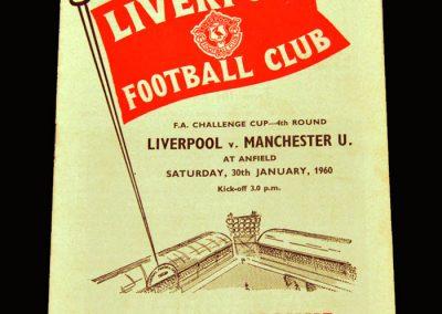 Man Utd v Liverpool 30.01.1960 - FA Cup 4th Round