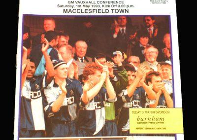 Wycombe v Macclesfield 01.05.1993