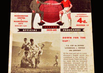 Man Utd v Man City 06.02.1960