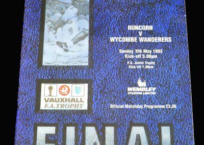 Wycombe v Runcorn 09.05.1993 - FA Trophy Final