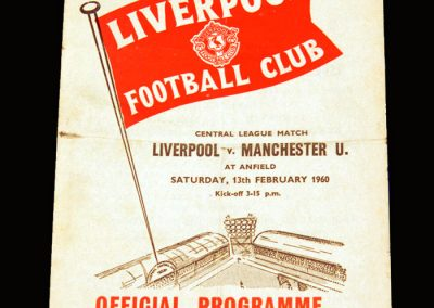 Man Utd Reserves v Liverpool Reserves 13.02.1960