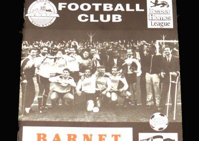 Barnet v Dover 20.07.1991 (Friendly)