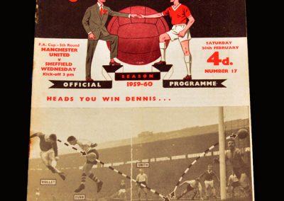 Man Utd v Sheff Wed 20.02.1960 - FA Cup 5th Round