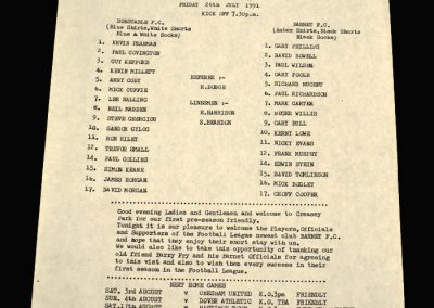 Barnet v Dunstable 26.07.1991 (Friendly)