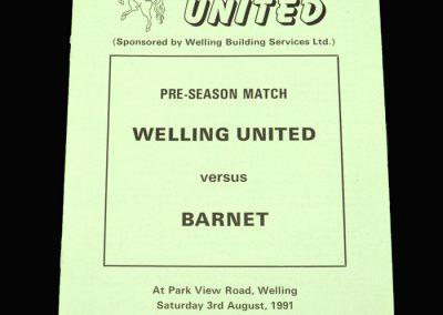 Barnet v Welling 03.08.1991 (Friendly)