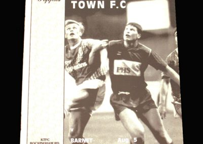 Barnet v Kettering 05.08.1991 (Friendly) (inc Maidstone and Chesterfield)