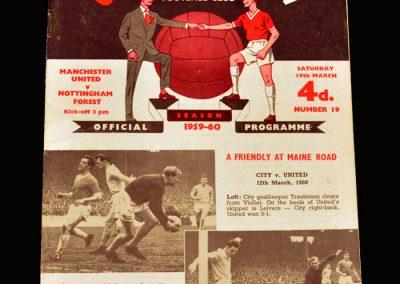 Man Utd v Notts Forest 19.03.1960