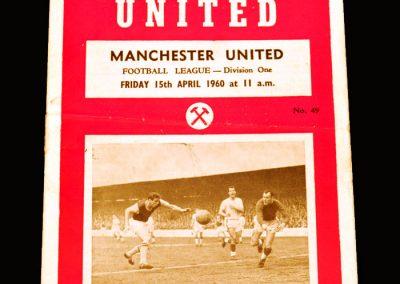 Man Utd v West Ham 15.04.1960