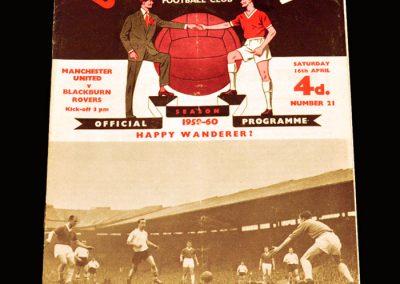 Man Utd v Blackburn 16.04.1960