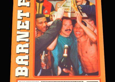 Barnet v Hereford 31.08.1991