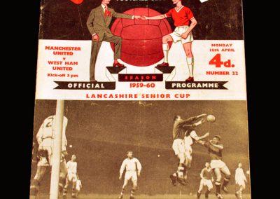 Man Utd v West Ham 18.04.1960