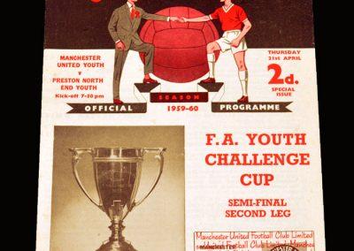 Man Utd Youth v Preston Youth 21.04.1960