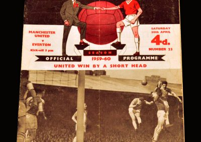 Man Utd v Everton 30.04.1960