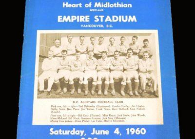BC All Stars v Hearts 04.06.1960