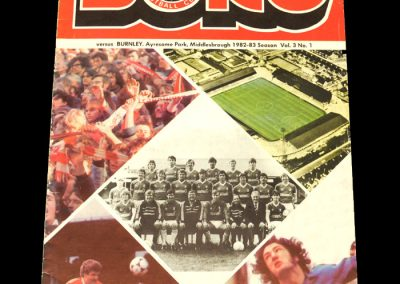 Middlesbrough v Burnley 04.09.1982