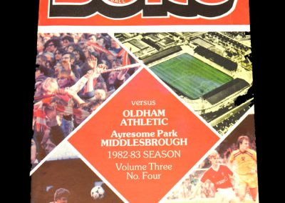 Middlesbrough v Oldham 02.10.1982