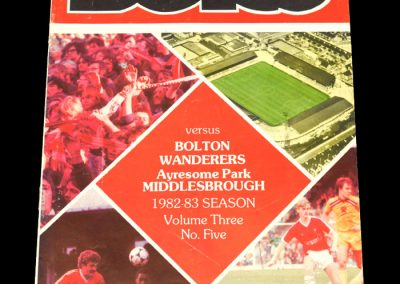 Middlesbrough v Bolton 16.10.1982