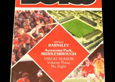Middlesbrough v Barnsley 06.11.1982